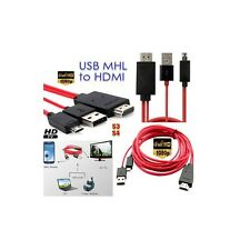 2M MHL USB to HDMI HD TV Adapter Cable for Samsung Galaxy Tab 3 10.1 8.0