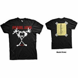 PEARL JAM ALIVE STICKMAN BACK PRINT T-Shirt  Aust Stock M L XL Size Get it Quick
