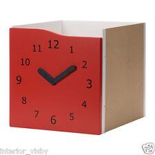 KALLAX Insert with door, Red, clock clock decoration/Brand New