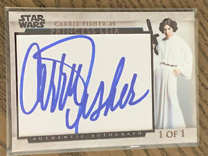 Carrie Fisher Signed Cut Autographed Custom Card AUTO Star Wars Princess Leia