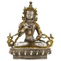 Vajrasattva Buddha Figur (21cm) Tibet Bronze Statue Doppeldorje - AsienLifeStyle
