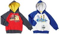 Boys Jacket Sweat Hoody Despicable Me Minions Caveman Zip Hooded Top 3 - 8 Years