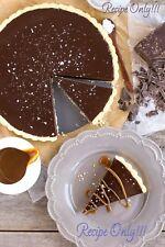 """☆""""RECIPE""""☆Dark Chocolate Ganache Tart☆Silky Chocolate & Cream Combo☆"""
