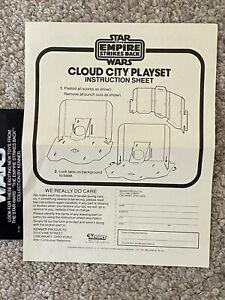 Vintage Star Wars ORIGINAL CLOUD CITY INSTRUCTIONS ONLY 1980 NICE!!