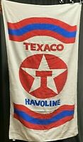 Texaco Havoline 60 x 30 Beach Towel Vintage Rare !