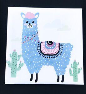Llama Alpaca Painting Wallart 8x8 In