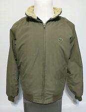 Vintage IZOD LACOSTE Green Bomber Hooded Jacket Corduroy 3M Thinsulate MEDIUM
