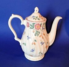 Churchill Briar Rose Coffee Pot Teapot - Made In Staffordshire England
