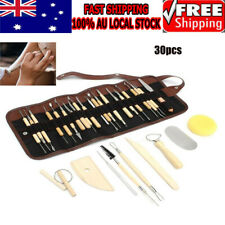 Clay Tool Sculpting Kit 30pcs Set Artist Wooden Moulding Pottery Accessories