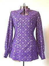 TRUE VINTAGE 1960s 60s purple Dress Retro Medium Costume Gogo mini