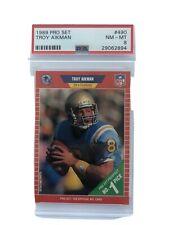 1989 pro set #490 TROY AIKMAN dallas cowboys rookie card PSA 9