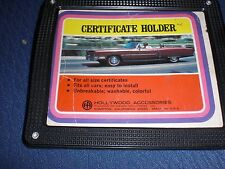 Rare Vintage Car Certificate Holder 1960's Original!
