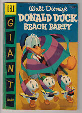DONALD DUCK BEACH PARTY # 3 Dell Giant 1956 Walt Disney's VG- 3.5