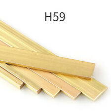 H59 Brass Solid Rod Bar Square Sheets Cutting Tool Metal - Assorted Sizes 500mm