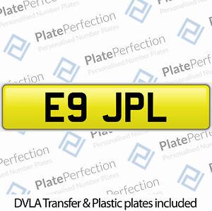 E9 JPL JL JAY JON JAMES JIM JASON CHERISHED PRIVATE NUMBER PLATE DVLA REG