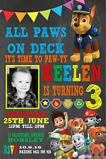 Paw Patrol Ryder Marshall Invite Chase Rocky Rubble Invitation Birthday Zuma