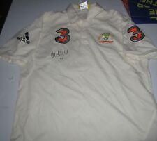 Adam Gilchrist (Australia) signed Australian Test Match official Adidas Shirt