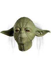 Star Wars Costume Accessory, Mens Yoda Deluxe Full Mask