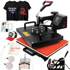 5 in 1 Heat Press Machine Digital Transfer Sublimation T-shirt Hat Cap Printer