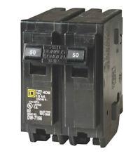 "Square D HOM250CP Homeline Double Pole Circuit Breaker, 50 Amp, 2"""