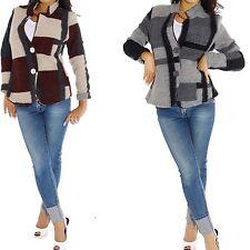Taillenlange Damenjacken & -mäntel aus Wollmischung mit Knöpfen