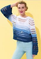Maurices Open Weave Ombre Sweater Top Womens M NWT