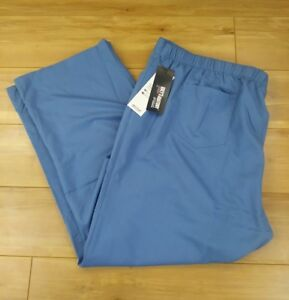 NWT Greys Anatomy Womens 4XL Five Pocket Scrub Pants French Blue