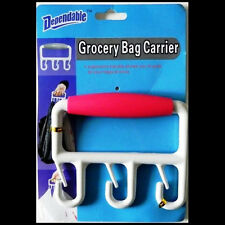 New Grocery Shopping Bag Holder Carrier w/ Comfy Ergonomic Grip Handle