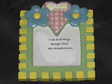 Decorative Refrigerator Magnet Flowers Heart Polystone Religious NEW!