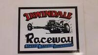 Vintage Irwindale Speedway racetrack RATROD speed SHOP toolbox decal STICKER