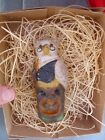 """New 3D Dresden Paper Halloween Ornament Wise Owl on Spooky Stump w Squirrel 4"""""""