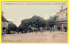 cpa 71 - BOURBAN LANCY Avenue du PONT de PIERRES BLANCHES et Avenue de la GARE
