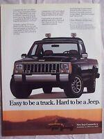 1986 Magazine Advertisement Page Jeep Comanche Truck Vintage Ad