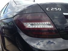 2012-2014 MERCEDES C-CLASS C250 C300 C350 C63 TAILLIGHT CUTOUT SMOKE TINT COVERS