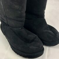 Ugg Womens Classic Tall 5815 Suede Sheepskin Lined Boots Black Size 6