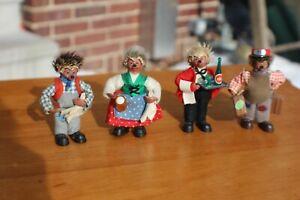 Vintage Steiff Handmade Hedgehog lot of 4 Peter Figurens Mecki Micki 1950's-60's