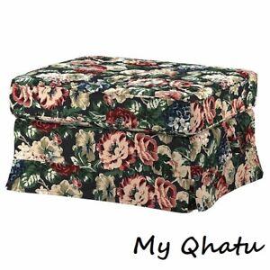Ikea Ektorp Cover for Ottoman, Lingbo Multicolor Floral Cover 904.033.23 New
