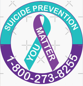 Suicide Awareness Ribbon Decal Remembrance Prevention Window Sticker HOT LINE