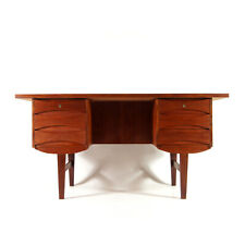 Retro Vintage Danish Teak Double Pedestal Office Desk 60s 70s Arne Vodder Style