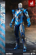Hot Toys Iron Man 3 Mark XXX Blue Steel 1:6 Figure MMS 391*WITH BROWN SHIPPER**