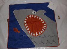 NWT Pottery Barn Kids Shark Jaw decorative pillow cover blue 16 sham