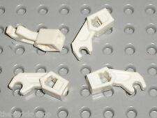 4 x LEGO White Mechanical Arm ref 76116 / Set 4182 2263 2506 2518 2521 30081 ...