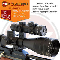 Shooting red dot laser sight / high power airsoft red laser scope + free mounts