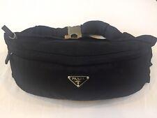 Prada VINTAGE black nylon tessuto fanny pack, 2003, gently used