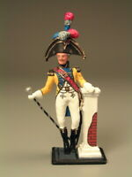 Painted Tin Toy Soldier Tambour - Major 54mm 1/32