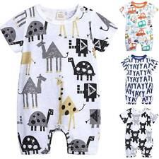 Newborn Toddler Baby Girls Boys Romper Bodysuit Jumpsuit Summer Sunsuit Clothes