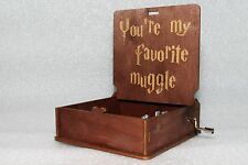 You're My Favorite Muggle - Harry Potter Music Box - Hand Crank Engraved Wooden