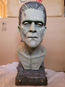 SIDESHOW 1:1 SCALE FRANKENSTEIN SILVER SCREE LIFE SIZE BUST STATUE FIGURE SAMPLE