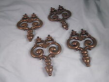 Set of 4 Brass Drawer Dresser Cabinet Knocker Pulls Knobs Handles Victorian