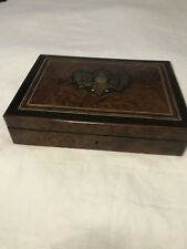 ANTIQUE NAPOLEAON III FRENCH Jewelry BOX, BOULL INLAY DECORATION ON TOP